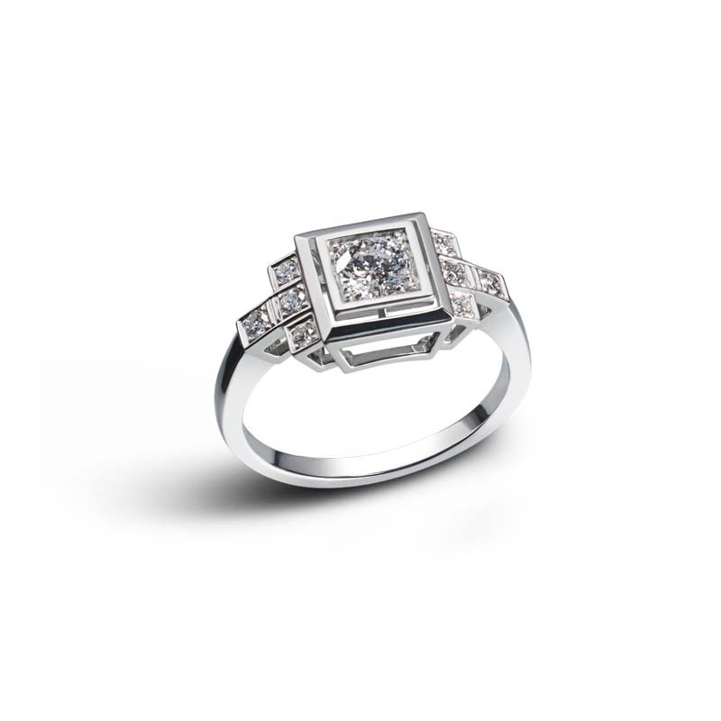 bague diamant 1920
