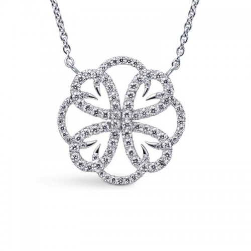 Collier Méandre pavé medium