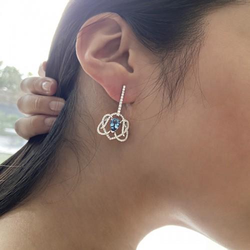 Boucles d'oreilles Méandre marine