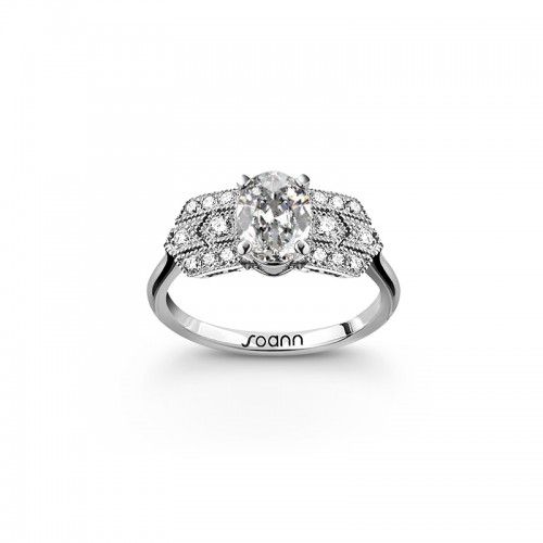 Bague Charleston diamant